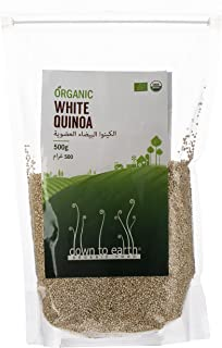 Down To Earth Organic White Quinoa, Diet-Friendly and Naturally Gluten-Free White Quinoa with High Fibre - 500 gms