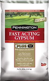 Pennington Fast Acting Gypsum Fertilizer, 30-Pound