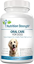 Nutrition Strength Oral Care for Dogs, Support for Healthy Mouth, Teeth and Gums, with Organic Kelp & Probiotics for Dog Mouth to Promote a Healthy Bacterial Balance, 120 Chewable Tablets