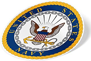 US Navy Emblem Logo Sticker Vinyl Decal Laptop Water Bottle Car Scrapbook Officially Licensed United States (Sticker - Main Seal)