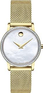 Museum, Yellow Pvd Set Case, White Dial, Yellow Pvd Mesh Bracelet, Women, 0607307