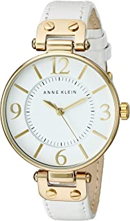 Anne Klein 109168WTWT Round Dial Leather Strap Watch