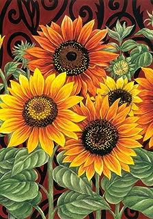 Toland Home Garden Sunflower Medley 28 x 40 Inch Decorative Summer Fall Flower Floral House Flag