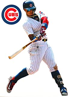 FATHEAD Javier Baez Mini Graphic + Chicago Cubs Logo Official MLB Vinyl Wall Graphic 7