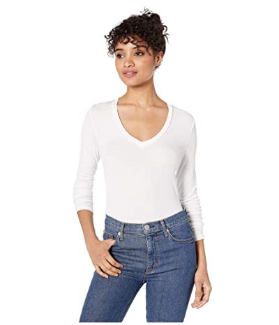 Splendid Valley 2x1 Rib Long Sleeve V-Neck Women