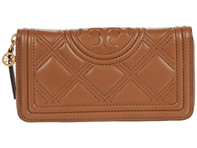 Tory Burch Fleming Soft Zip Continental Wallet (Moose) Bags
