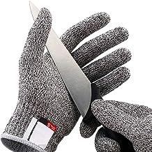 LETOOR Cut Resistant Gloves High Performance Level 5 Protection, Food Grade. Size Medium Grey
