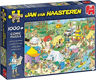 Jan Van Haasteren Camping in The Forest Jigsaw Puzzle (1000 Pieces)
