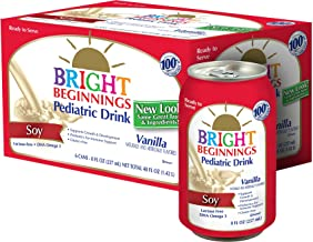 Bright Beginnings Soy Pediatric Nutritional Drink, Vanilla, 6 Count, 8 Fl Oz