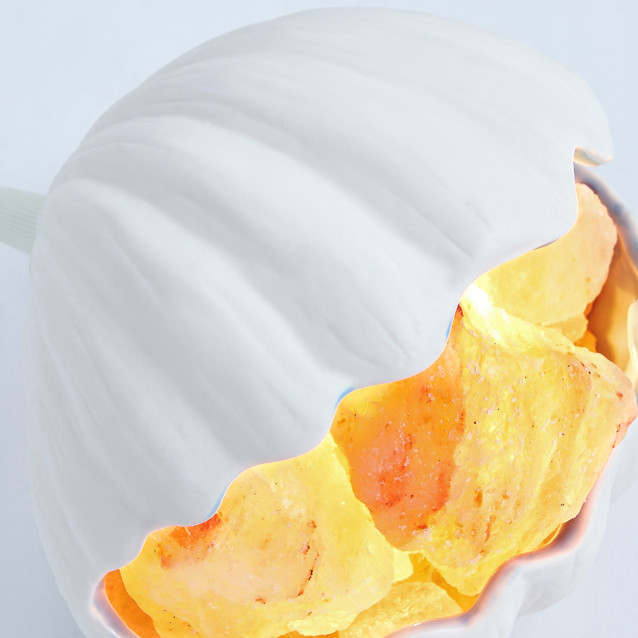 Egomall Seashell hecho a mano Himalaya Natural Cristal Lámpara de ...