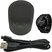 CERRXIAN Wireless Charger Cradle Dock for Moto 360 2nd Gen 42mm & 46mm Smart Watch & Moto 360 Sport, Come with Micro USB Cable (Black)
