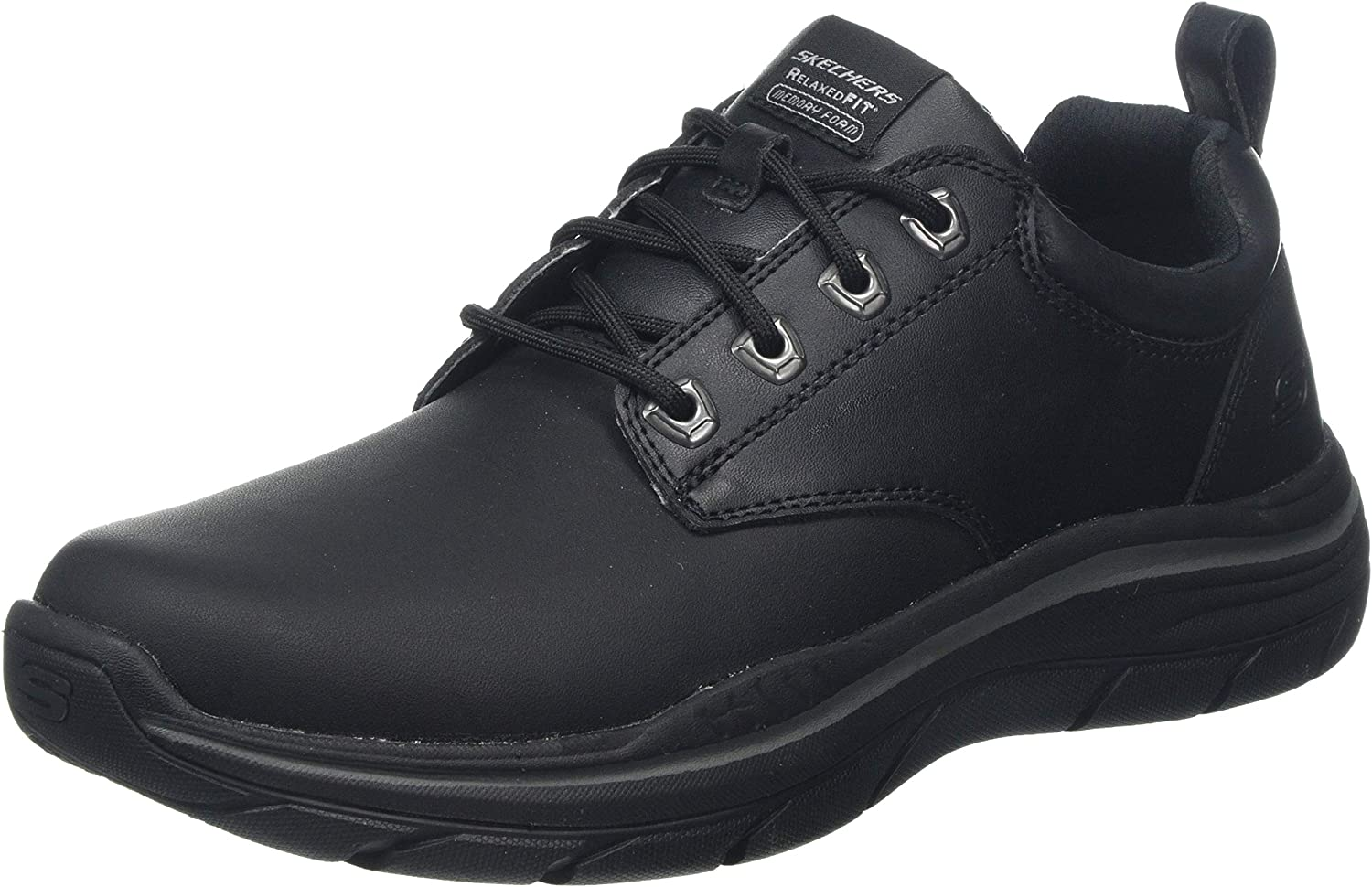Skechers Men's Expected 2.0 Leather Lace Up Oxford