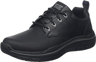 حذاء اكسبكتد 2.0 اوكسفورد جلدي برباط  للرجال من سكيتشرز، لون اسود، 9.5 M US