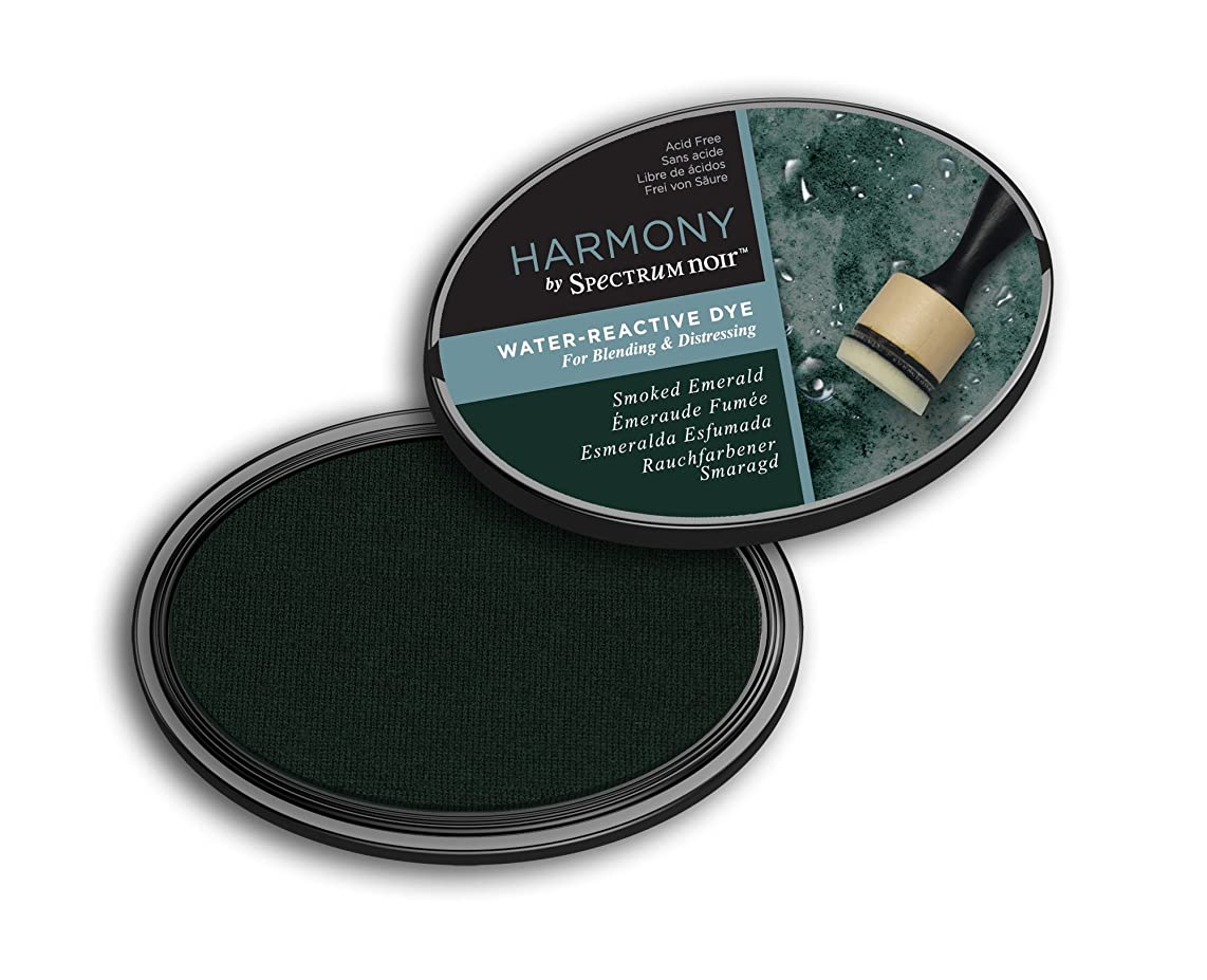 Spectrum Noir SN-IP-HWR-SEME Harmony (Smoke Emerald) Water Reactive Ink Pad,