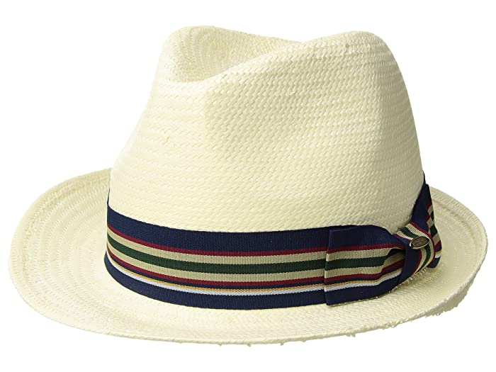 49d3d528b22871 1950s Mens Hats | 50s Vintage Men's Hats SCALA Bu Toyo Fedora with Striped  Ribbon Trim