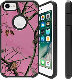 Untouchble | Camo Case for Apple iPhone 6, iPhone 7, iPhone 8 [FITS All Three] Camo Case [Shock Bumper Case] Hybrid Shell, Hard Plastic Exterior, TPU Interior Skin - Pink Tree Camo
