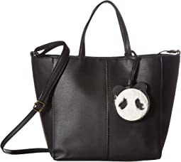 Tote with Plush Panda Dangle