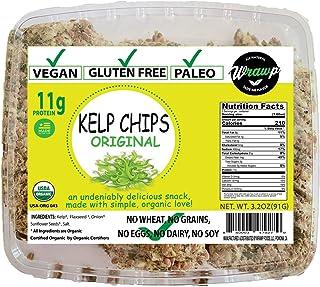 Wrawp Organic Kelp Seaweed Snacks Made with Brown Seaweed | Lightly Salted and Roasted Seaweed Chips | Non-GMO, Paleo, Vegan and Gluten Free (Original)