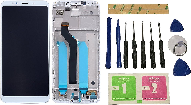 Flügel para Xiaomi Redmi 5 Plus Pantalla LCD pantalla Blanco Táctil digitalizador Completo Pantalla ( con marco ) de Recambio & Herramientas