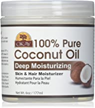 Okay Coconut Oil for Hair and Skin in Jar, 6 Ounce by Okay