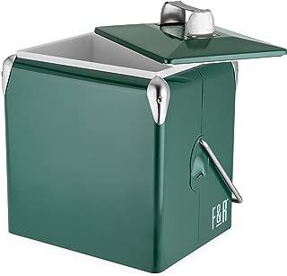 Foster & Rye 7070 Vintage Metal Cooler Green Set of 1