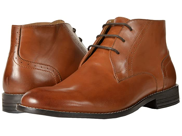 Nunn Bush  Savage Plain Toe Chukka Boot (Cognac) Mens Dress Lace-up Boots