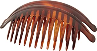 France Luxe Belle Larger Interlocking Comb, Tortoise, Set of 2 - An Excellent Styling Solution For Long/Thick or Curly Hair