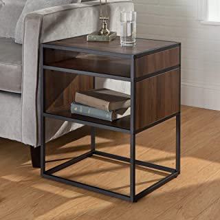 WE Furniture Modern Square Open Shelf Side End Table for Living Room Bedroom, 20