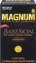 Trojan MAGNUM BareSkin Large Lubricated Condoms, 10 count - (Pack of 2)