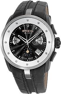 BREIL - Milano BW0435 - Reloj de Mujer de Cuarzo, Correa de Piel Color Negro