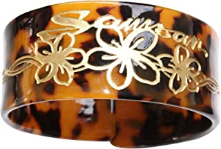 Tortoise Style Bangle with Carved Design.
