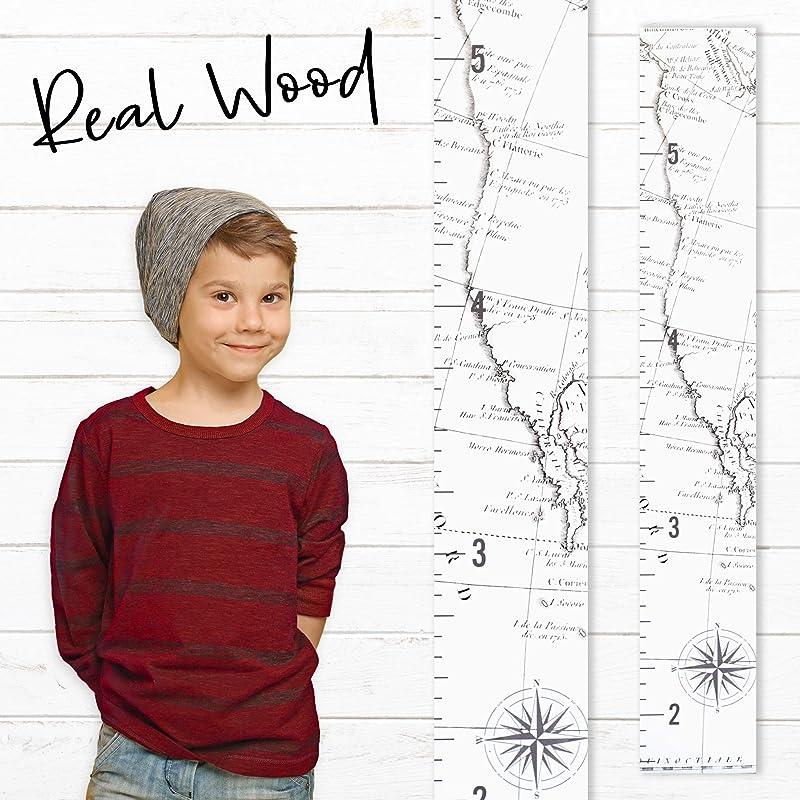 Growth Chart Art Wooden Map Growth Chart For Kids Boys Girls Children S Room D Cor Height Chart West Coast Map White