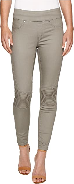 "Super Stretch Moto Detail Pull-On 28"" Ankle Pants"