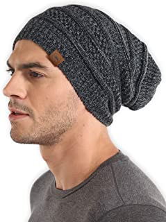 Slouchy Winter Beanie Knit Hats for Men & Women - Oversized Long Slouch Beanie Cap - Warm & Soft...