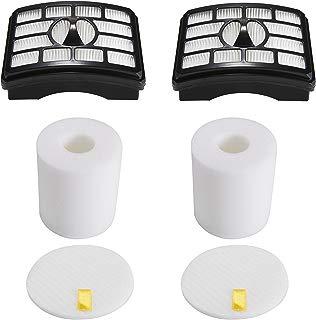 2 HEPA Filter + 2 Foam Flet Filter Kit for Shark Rotator Pro Lift-Away NV500 NV501 NV505 NV552 HEPA Filter & Foam Filter Kit, Part # XFH500 & XFF500