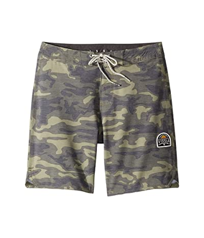 VISSLA Kids Solid Sets Boardshorts (Big Kids) (Camo) Boy