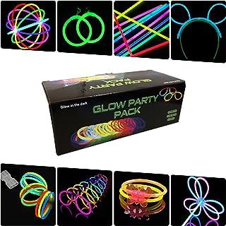 La Vida en Led Partyset Glow Armbänder, Halsketten, Brillen, Armbänder, Hasenohren, Ohrringe, Blumen, Leuchtkugel - 224 Elemente