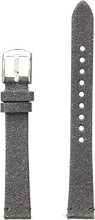 Fossil Women's 14mm Leather Watch Band, Color: Black (Model : S141186)