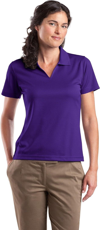 Ladies V-Neck Sport Shirt, Color: Purple