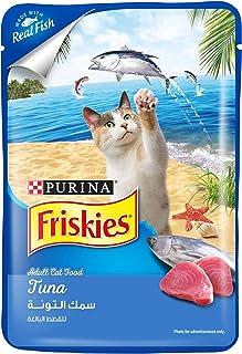 طعام رطب للقطط البالغين بطعم التونا من بورينا فريسكيز، 80 غرام