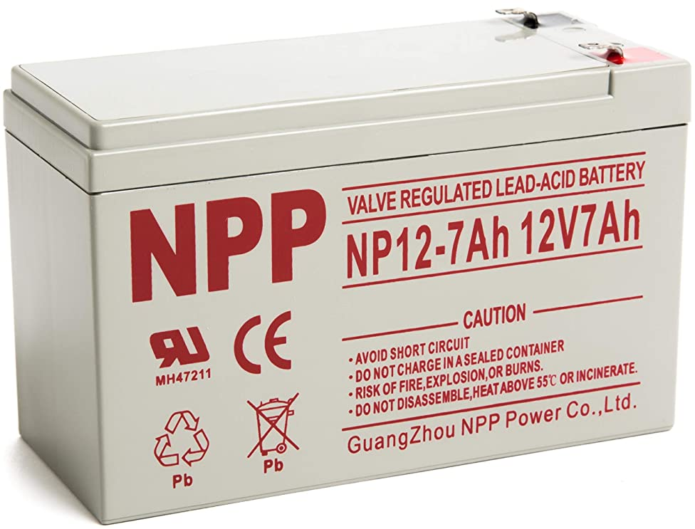 NPP 12V 7ah 12Volt 7amp Rechargeable Sealed Lead Acid Battery for Security Alarm System Verizon Fios Box with F1 Terminal