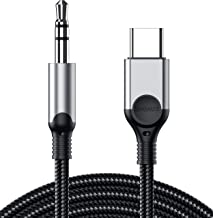 USB C to 3.5mm Audio Aux Jack Cable, ZOOAUX Type C Adapter to 3.5mm Headphone Car Stereo..