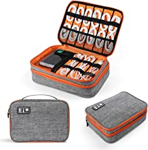 Electronics Organizer, Jelly Comb Electronic Accessories Cable Organizer Bag Double Layer Travel Cable Storage Bag for Cab...