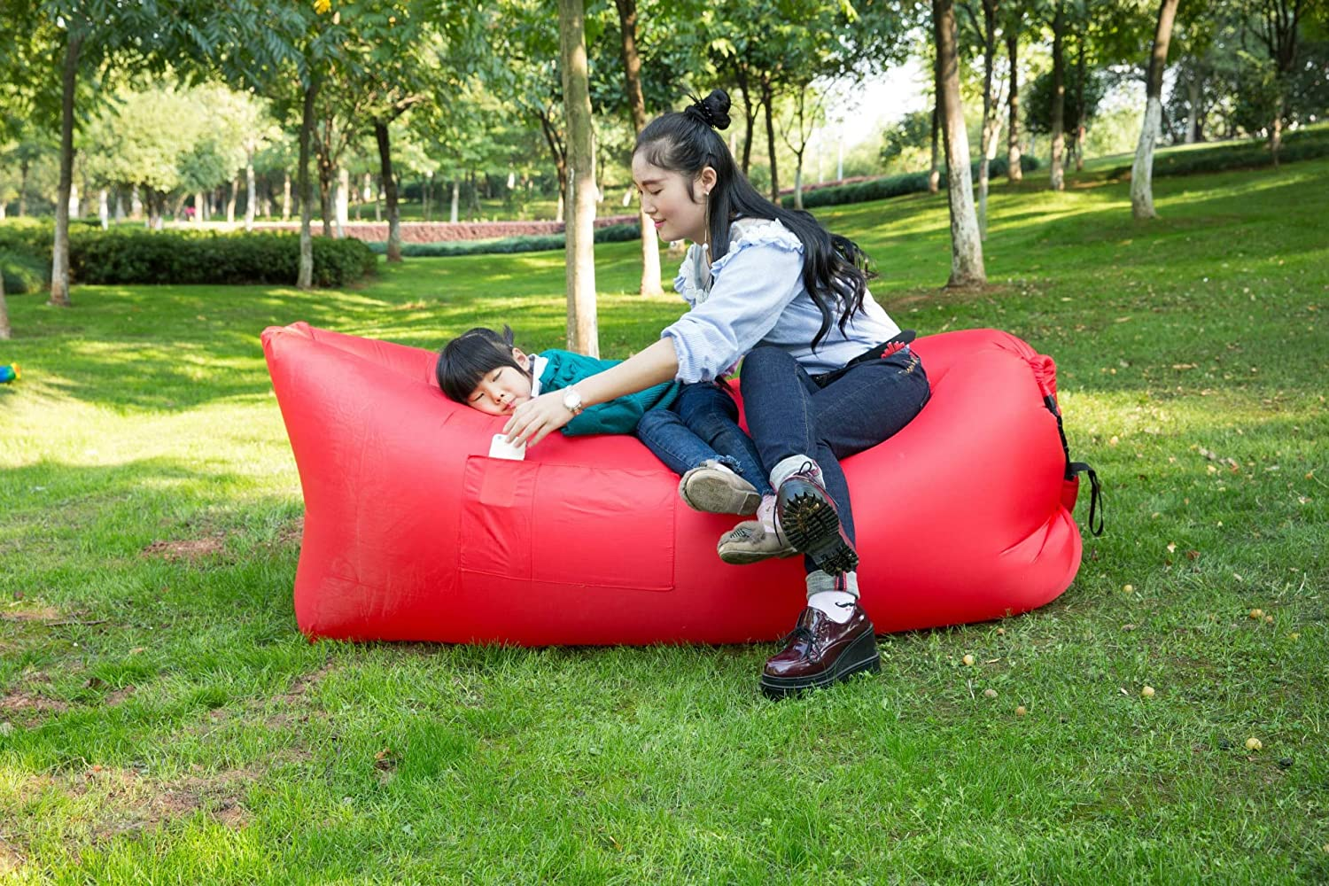 Inflatable Sofa Lazy Bag Limited time trial price Austin Mall Utralight Beach Air Couch Sleeping