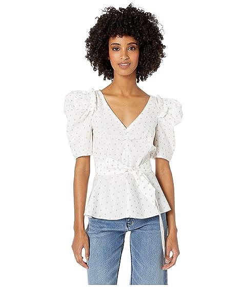 Kate Spade New York Dot Cotton Drape Blouse