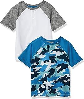 Amazon Essentials Short-Sleeve Henley T-Shirts Niños