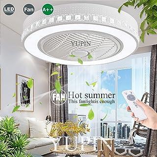 Ventilador De Techo LED Ventilador Invisible Lámpara De Techo Ventilador Regulable Luz De Techo Con Control Remoto Para Lámparas De Sala De Estar Dormitorio Habitación De Niños Ventilador Silencioso
