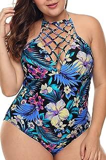 Garlagy Women's One Piece Swimsuits Plus Size Monokinis Swimwear Athletic Tankini Bathing Suit Bikini