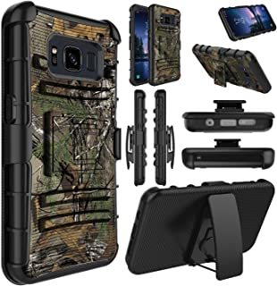 Galaxy S8 Active Case, Elegant Choise Heavy Duty Holster Dual Layer Shockproof [Kickstand] Armor Rugged Defender Case Cover with Swivel Belt Clip for Samsung Galaxy S8 Active (Camouflage)