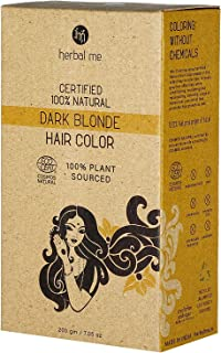 Herbal Me - Dark Blonde Henna Hair Color 7.05 oz,CERTIFIED 100% Natural by Ecocert(France).VEGAN & HALAL approved, Zero ch...